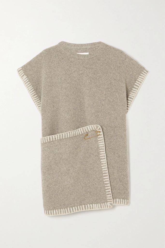 Max Mara - Dalila Wool Trench Coat - White