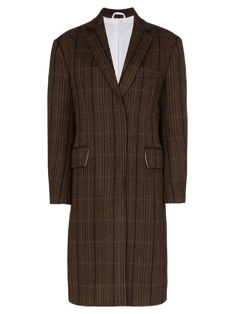 Calvin Klein 205W39nyc oversized tweed wool coat - Brown