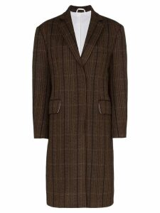 Calvin Klein 205W39nyc oversized tweed wool coat - Brown
