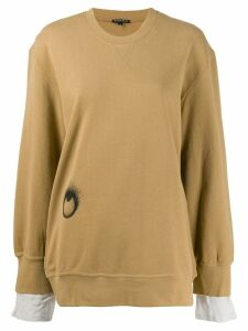 Ann Demeulemeester oversized sweatshirt - Brown
