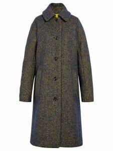 Mackintosh Blue & Yellow Wool & Silk Blend Coat LM-079F