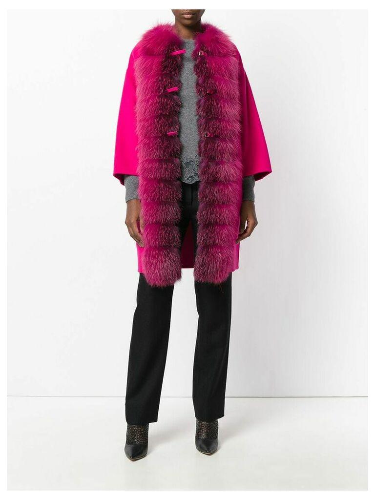 Ermanno Scervino fur trim coat - Pink
