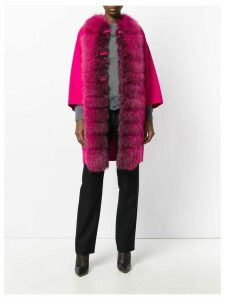 Ermanno Scervino fur trim coat - Pink