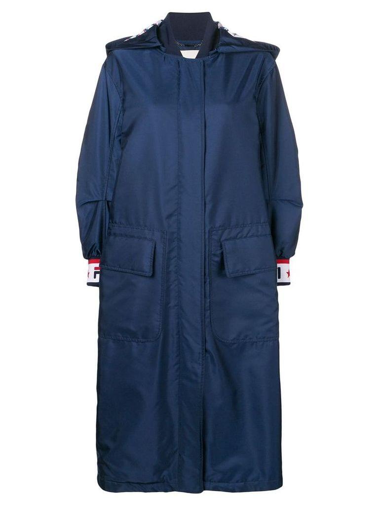 Fendi oversized parka coat - Blue