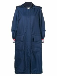 Fendi oversized parka coat - Blue