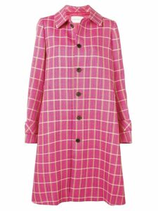 Matthew Adams Dolan checked flared coat - Pink