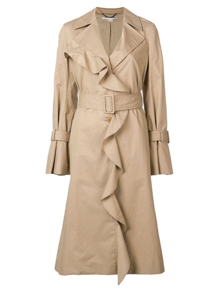 Stella McCartney ruffled coat - Neutrals