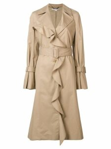Stella McCartney ruffled coat - Neutrals