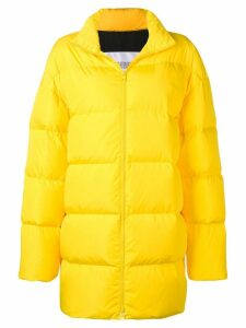 Calvin Klein Jeans Est. 1978 logo print puffer coat - Yellow