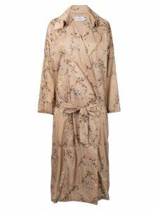 Preen By Thornton Bregazzi floral print coat - Neutrals