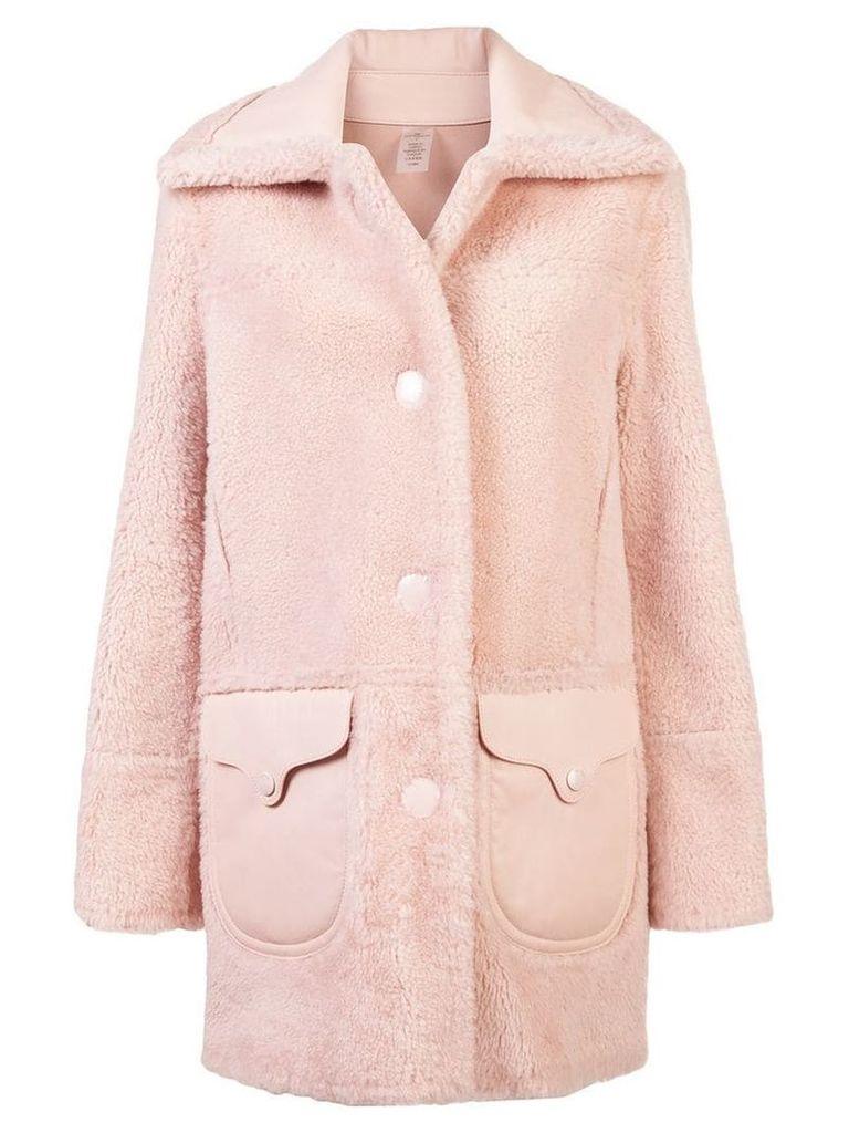Coach shearling coat - Pink