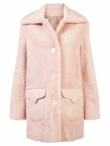 Coach shearling coat - Pink