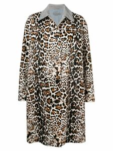 Bottega Veneta leopard print coat - Brown