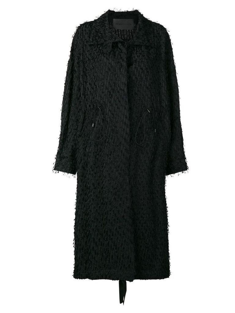 Christian Wijnants Carma single-breasted coat - Black