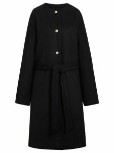 Mackintosh Black Wool & Cashmere Belted Coat LM-085F