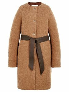 Mackintosh Beige Poodle Tweed Belted THINDOWN Coat LM-085/TD -