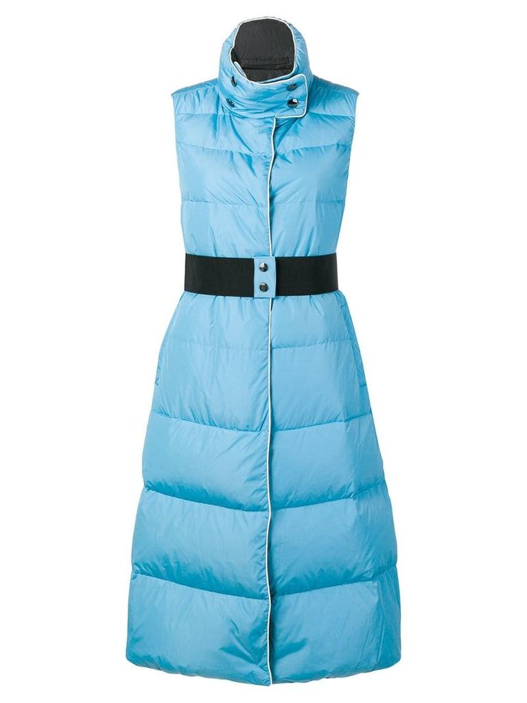 Dorothee Schumacher sleeveless padded coat - Blue