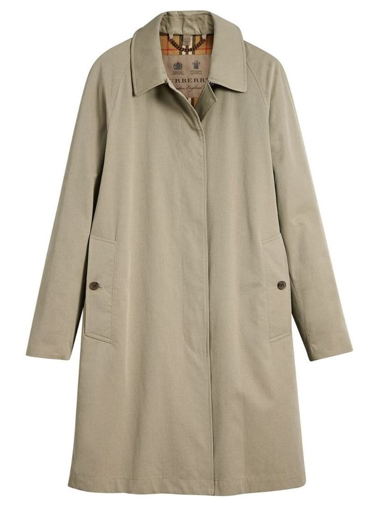 Burberry Camden Long Car Coat - Neutrals
