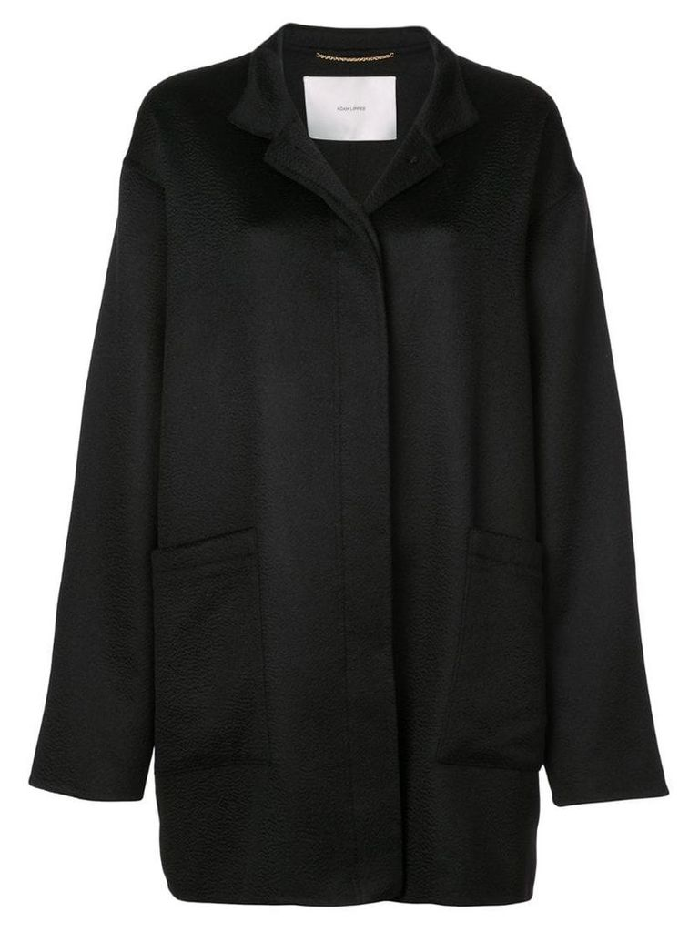 Adam Lippes single-breasted cocoon coat - Black