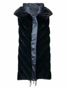Liska Dunkel sleeveless coat - Blue