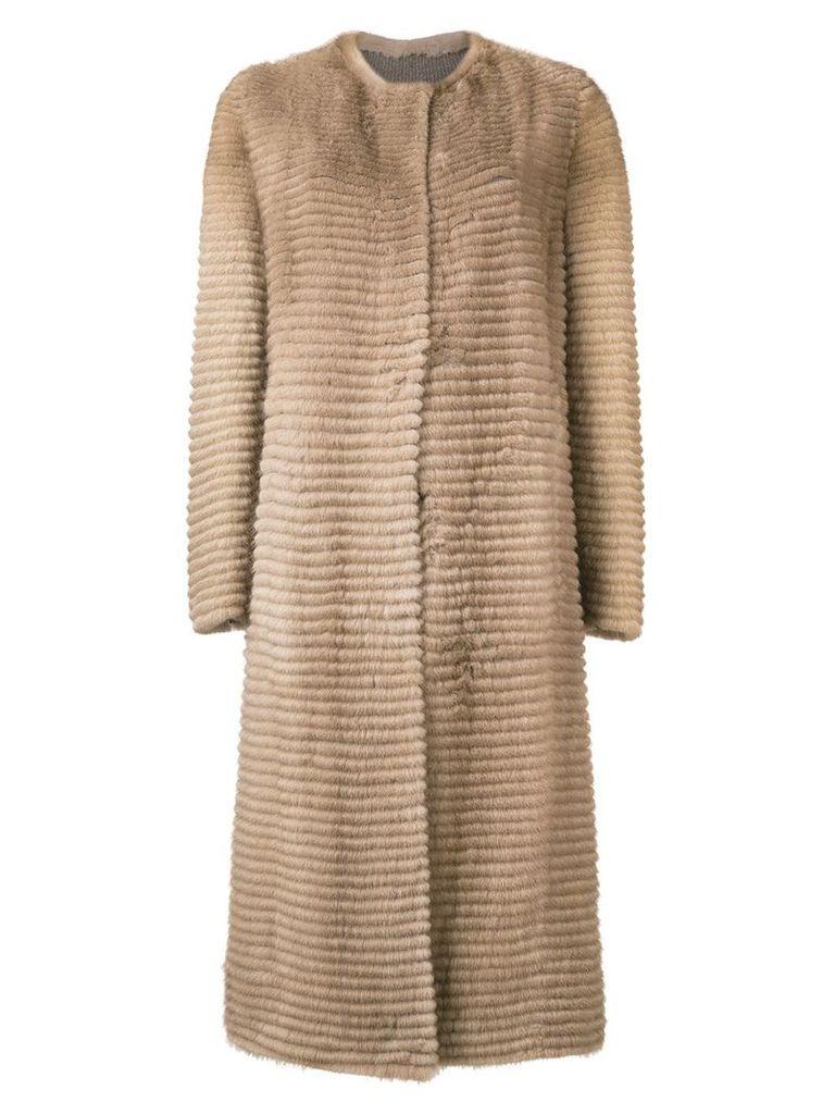 Liska Pastell long coat - Brown