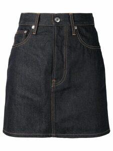 Helmut Lang mini denim skirt - Blue