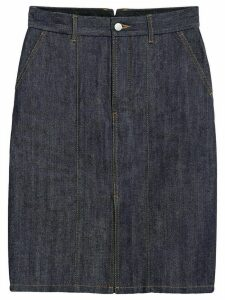 Mackintosh Dark Indigo Denim Skirt D-WSK001 - Blue