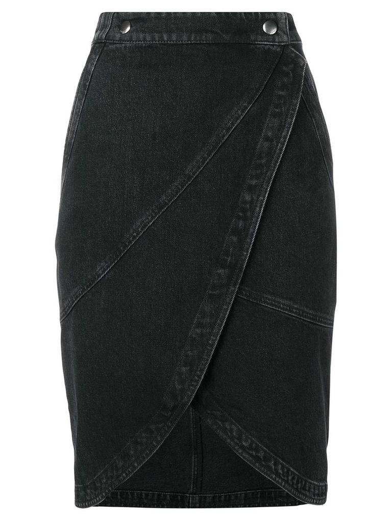 Givenchy midi denim skirt - Black