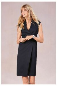 Womens Next Navy Tailored Fit Suit: Wrap Detail Dress -  Blue