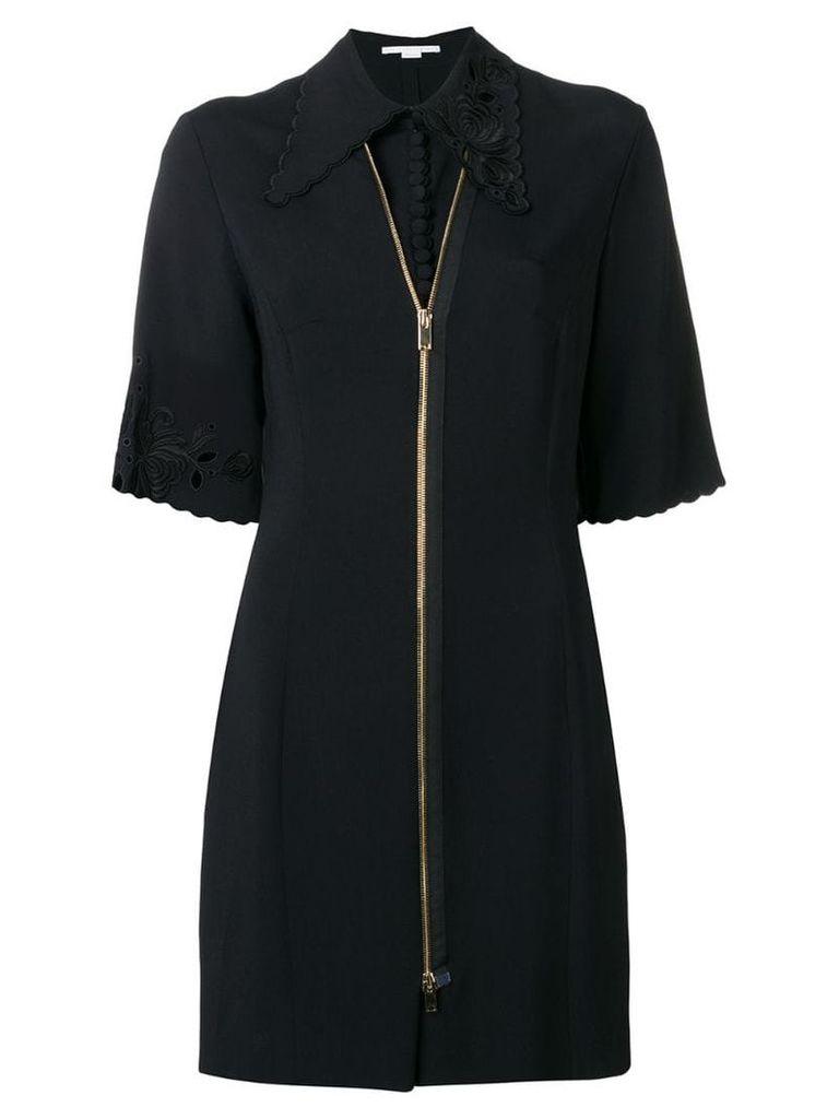 Stella McCartney zip front mini dress - Black