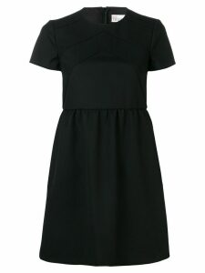 Red Valentino structured shift dress - Black