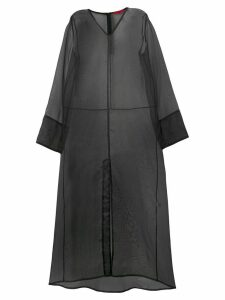 Rouge Margaux long organza layering dress - Black