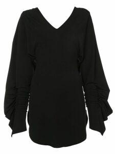 Paula Knorr V-neck flared dress - Black