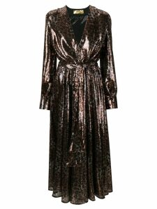 MSGM Leopard print sequin dress - Brown