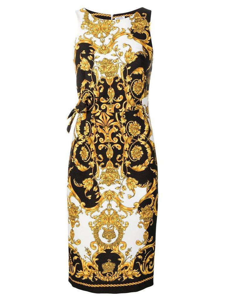 P.A.R.O.S.H. printed pencil dress - Black