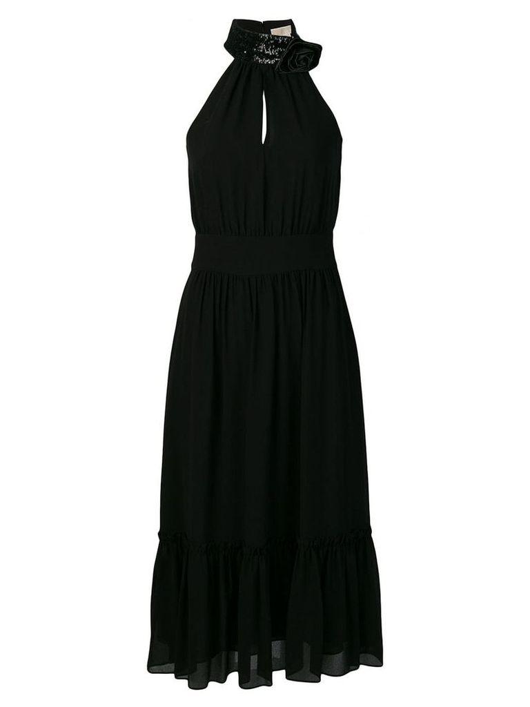 Michael Michael Kors halterneck midi dress - Black