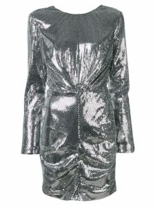 MSGM longsleeved sequin dress - Silver