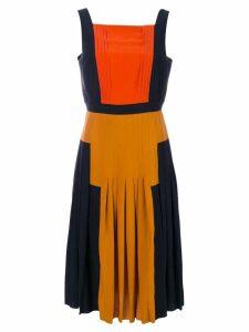 Bottega Veneta pleated colour block dress - Multicolour