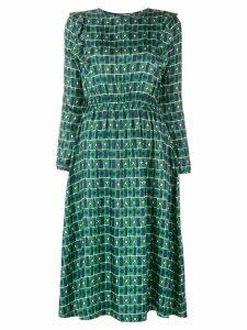 Chinti & Parker geometric flared midi dress - Green