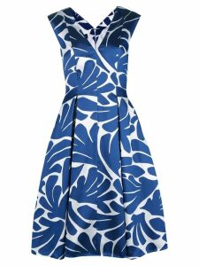 Talbot Runhof printed flared midi dress - Blue
