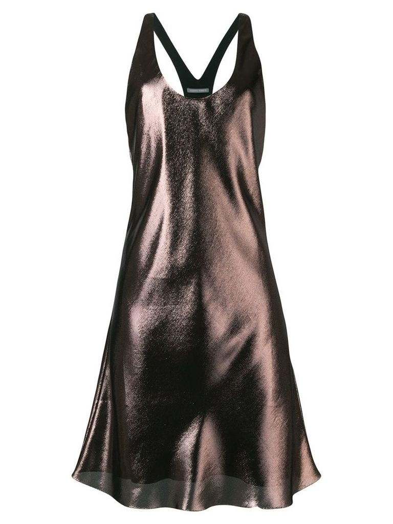Alberta Ferretti shift flared dress - Gold