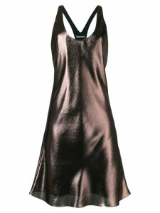 Alberta Ferretti shift flared dress - Gold