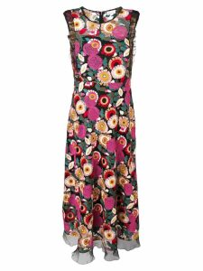 Red Valentino floral embroidered dress - Pink