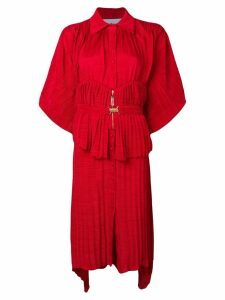 Atu Body Couture belted shirt dress - Red