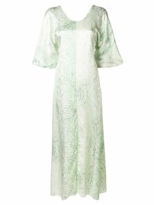Forte Forte patterned flared dress - Green