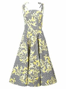 Christian Siriano gingham full skirt dress - Black
