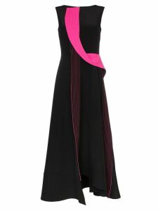Roksanda Efilia sleeveless sculptural trim silk dress - Black