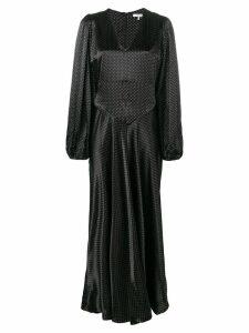 GANNI Cameron polka dot maxi dress - Black