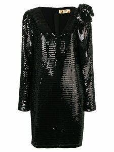 MSGM sequin embellished dress - Black