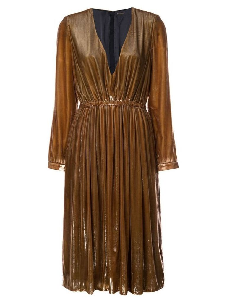 Adam Lippes V-neck dress - Brown